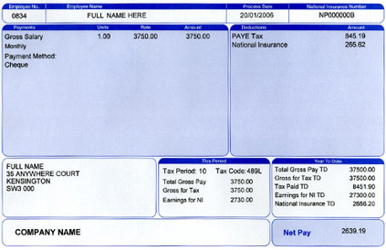 Beautiful To Order Payslips Pertaining To Blank Wage Slips
